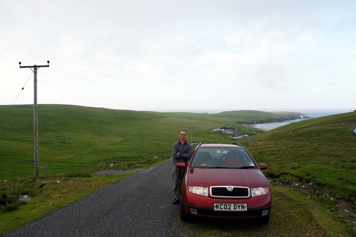 Nick Near End Of The Road To Skaw, Unst, The Northernmost Settlement In The UK