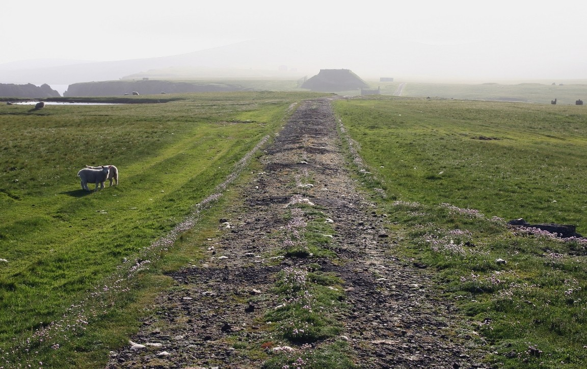 Slightly Poor Road, RAF Skaw, Unst