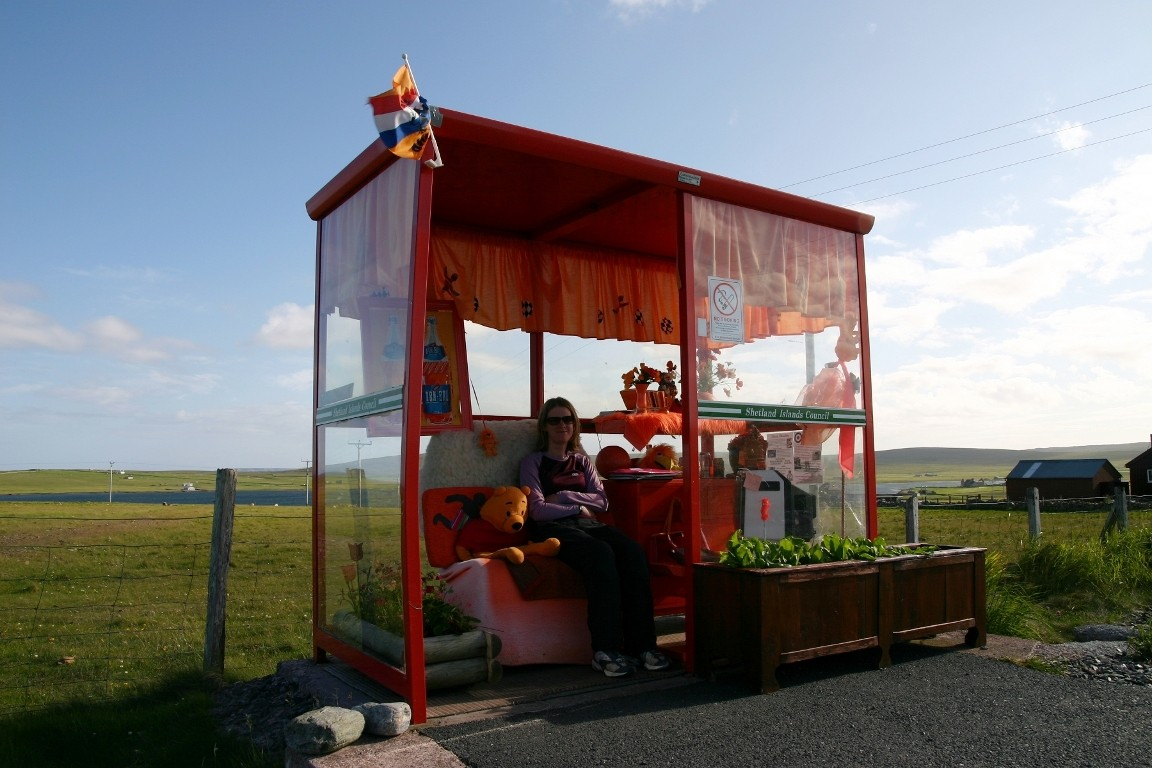 World Famous Bus Stop, Haroldswick, Unst