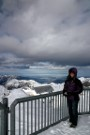 Debbie On Schilthorn, Thunersee In Background, Bern In Far Distance