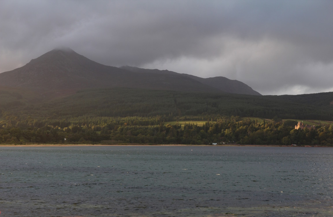 Brodick Castle And Goat Fell From Brodick, Arran