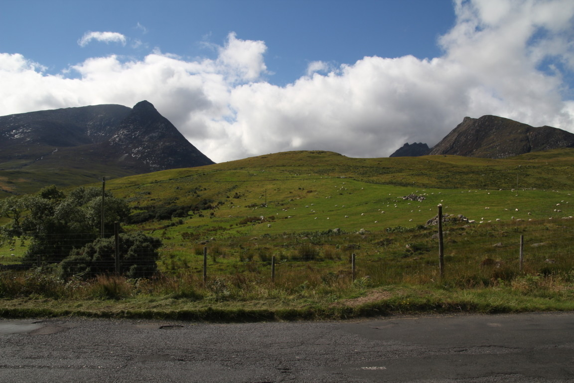 Coire Na Ciche (The Devil's Punchbowl), Left, Caisteal Abhail (Foreground Right) And Cir Mhòr (Background Right), Arran