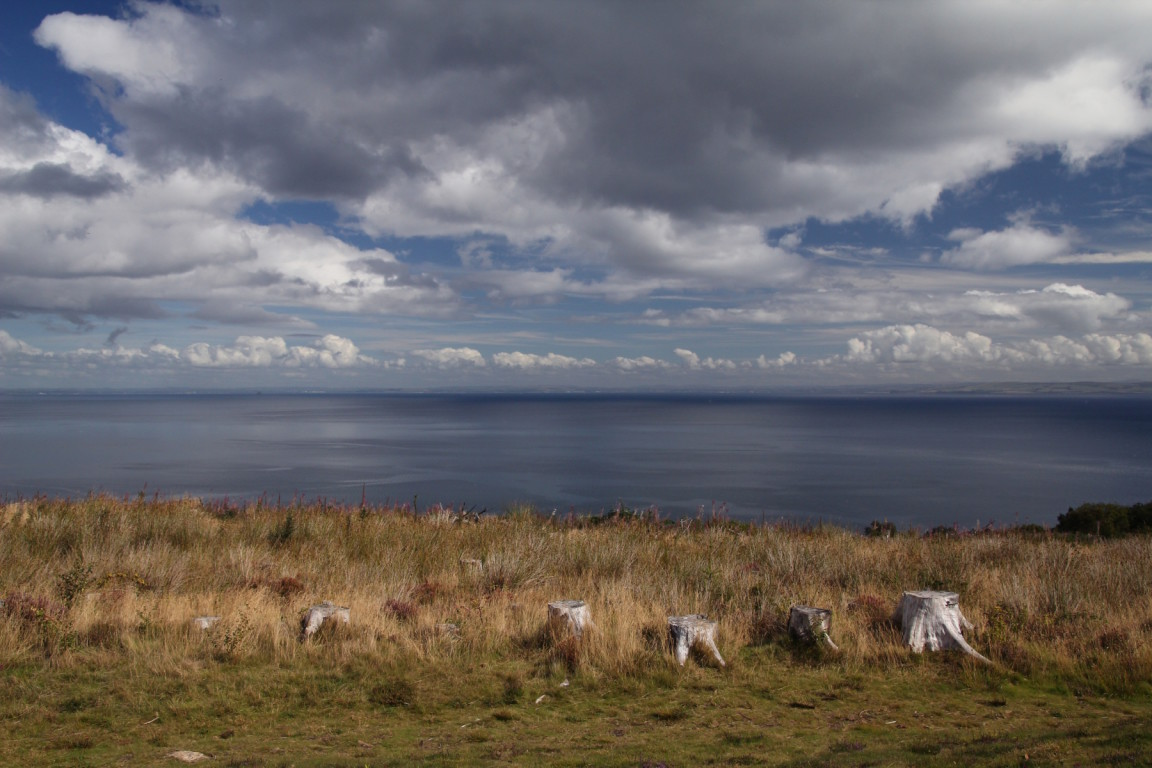 Looking Over Firth Of Clyde To Mainland From Giants' Graves, Torran Loisgte, Arran