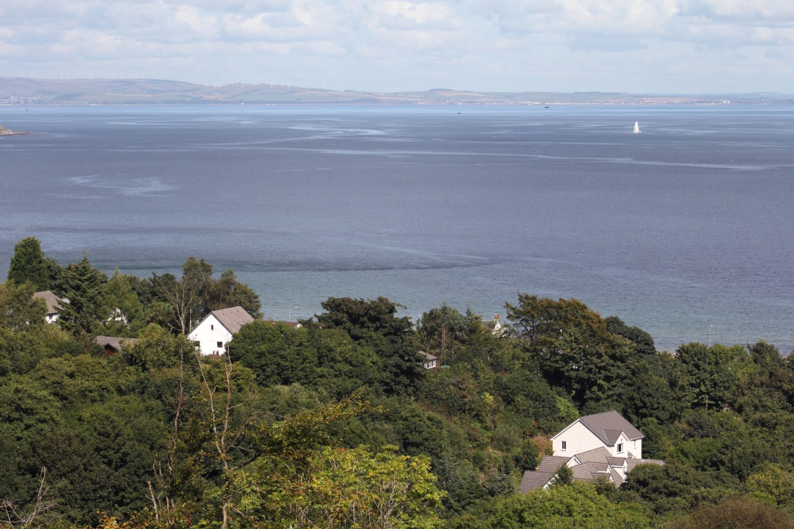 Looking Over Firth Of Clyde To Mainland From Descent Of Torran Loisgte, Arran