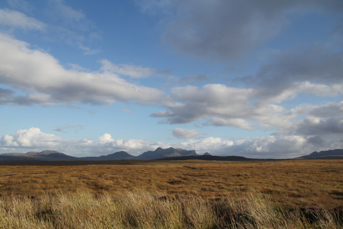 View from A838 at A' Mhòine, Between Loch Eriboll and Kyle of Tongue, Sutherland (i.e. Middle of Nowhere)