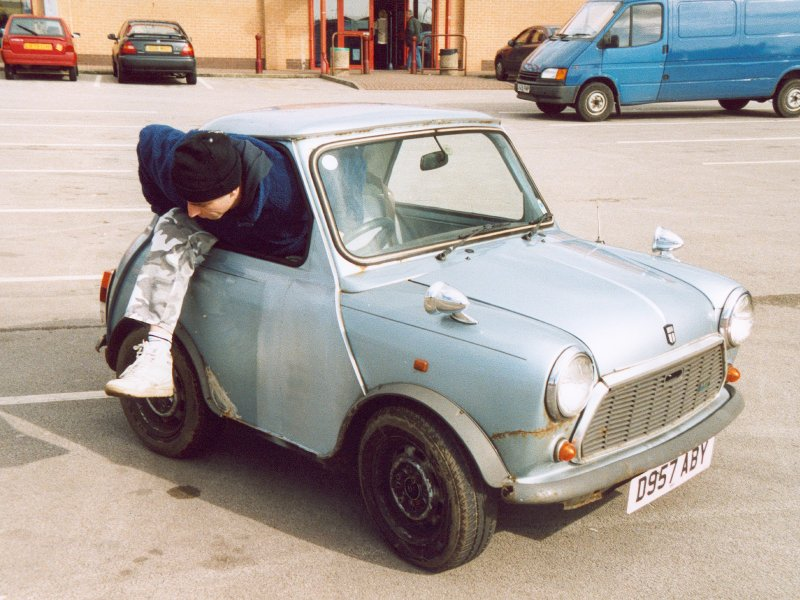 Barry Getting Out Of Mini In B&Q Car Park