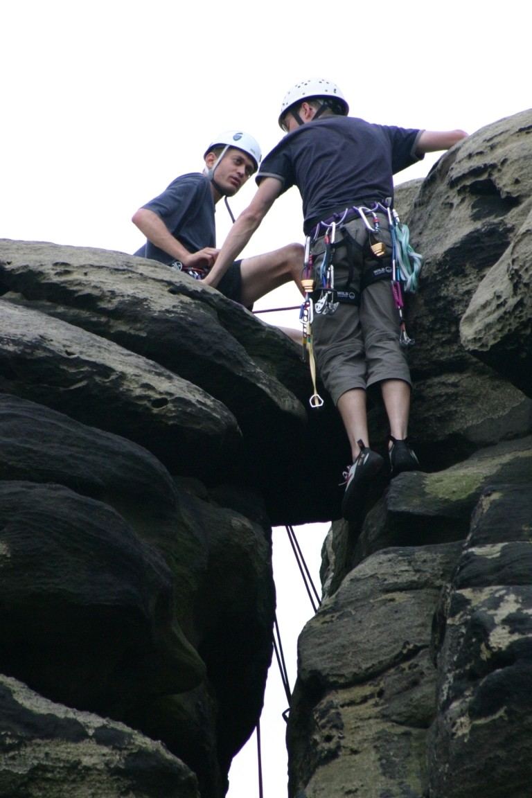 Nick Belaying Pete Up South Chimney