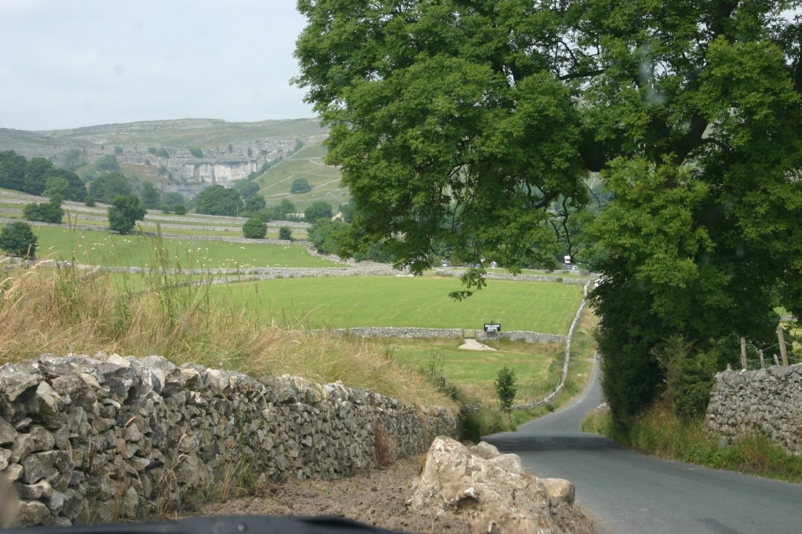 Near Malham, Malham Cove In Background