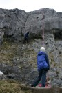 Pete Belaying Nic, Twisleton Scars