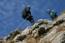 Jane Abseiling And Harold, Attermire Scar