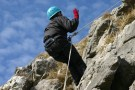 Jane Proving That Prussik Loops Stop You Falling To Your Death, Attermire Scar