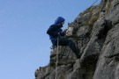Pete Abseiling And Harold, Attermire Scar