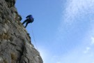 Lucy Abseiling, Attermire Scar