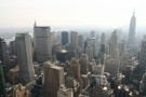 View From Top Of GE Building, Rockefeller Center, Empire State Building To Right
