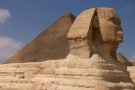 Great Sphynx And Khufu's (Great) Pyramid, Giza