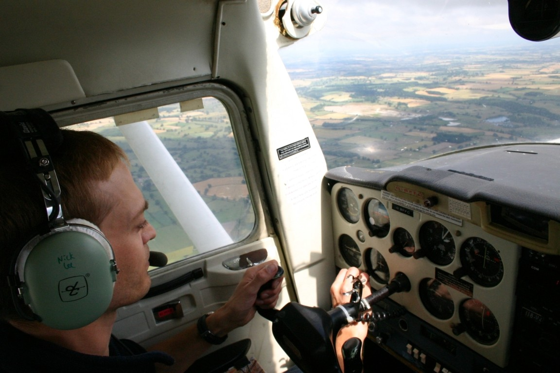Nick Flying Past Quarry Near Masham