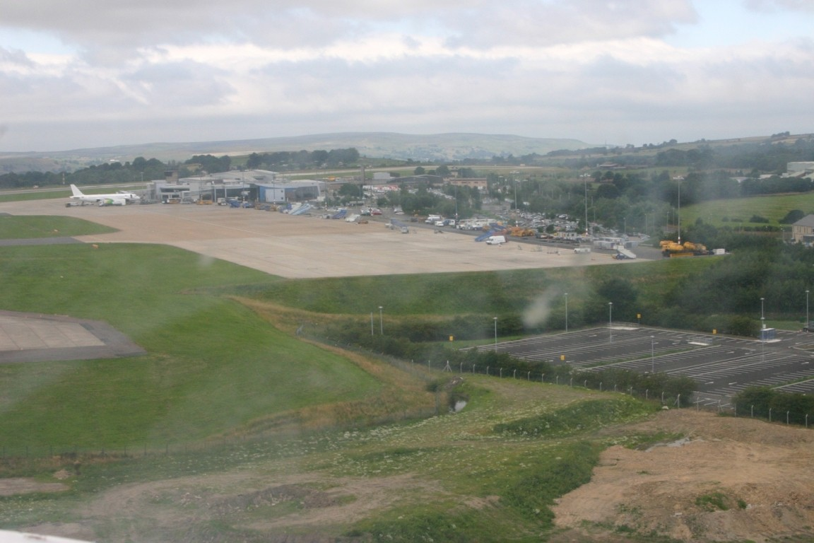 Leeds Bradford Airport Carparks From Final Approach to 27