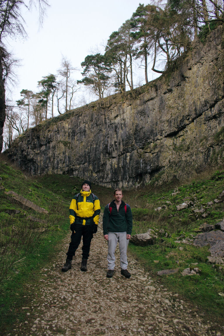 Will And Simon In Big Chasm On Way Up Ingleborough