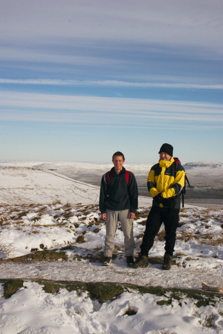 Simon And Will On Way Up Ingleborough
