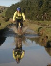Richard Tackling Huge Puddle, Edale