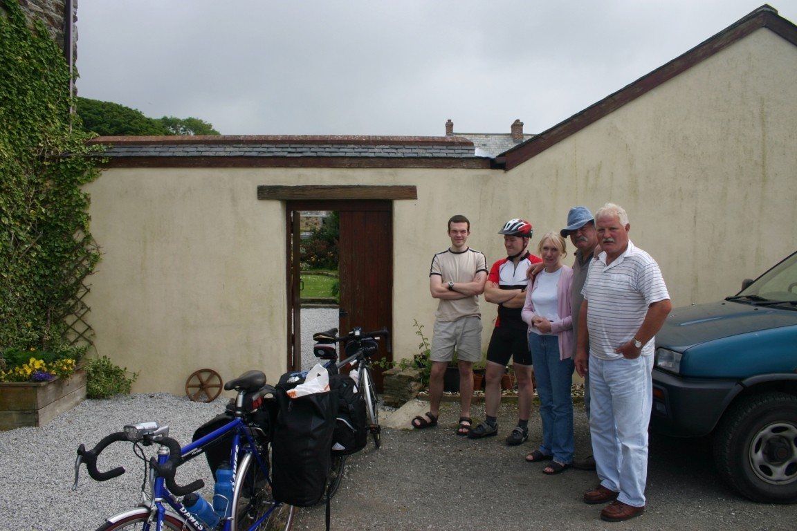 Guy, Will, Will's Parents And Uncle, At Hotel Huggins, Cornwall