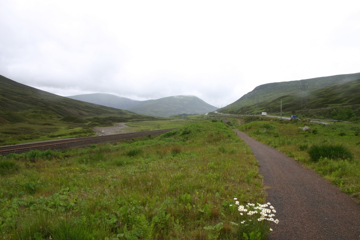 On Old A9 Cycle Path In Glen Garry