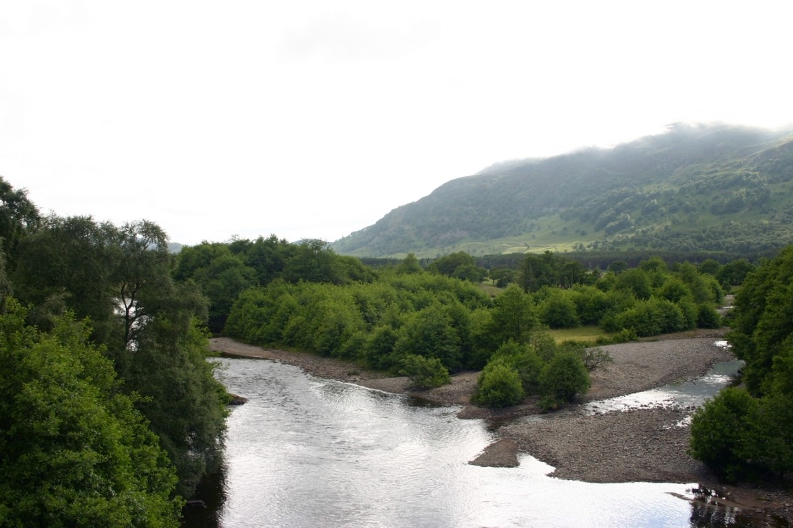 View From Bridge Over River Spey At Newtonmore