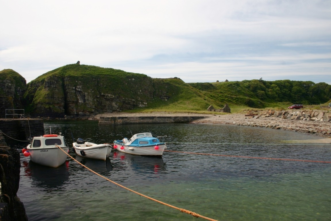 Boats In Latheronwheel Harbour