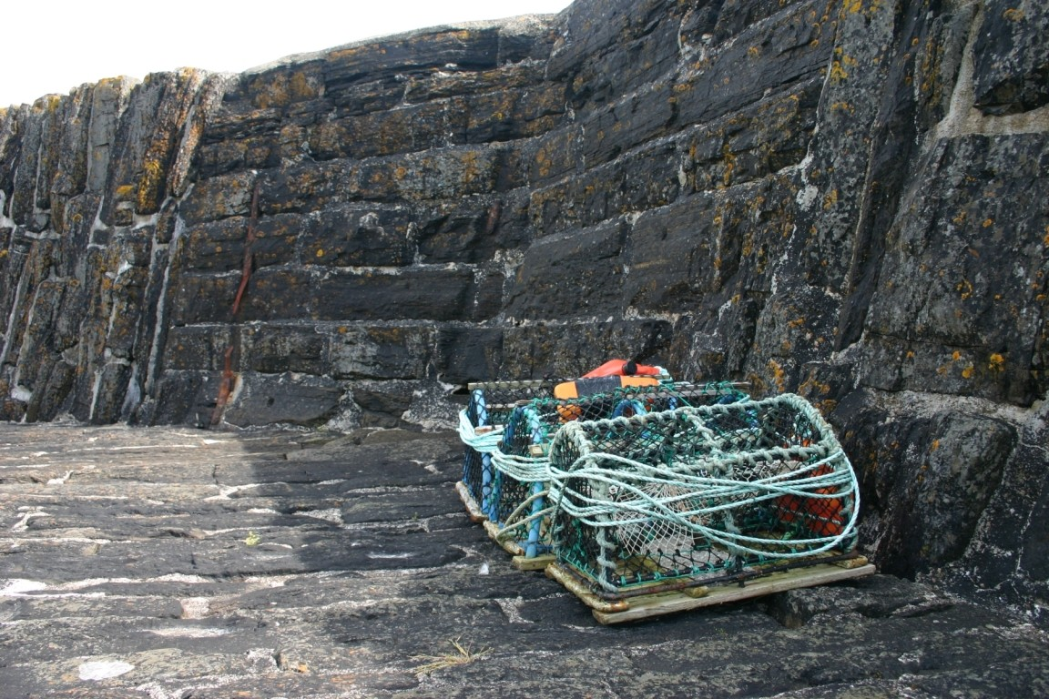 Lobster Pots At Latheronwheel Harbour