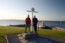 Nick And Will Being Tourists, John O'Groats
