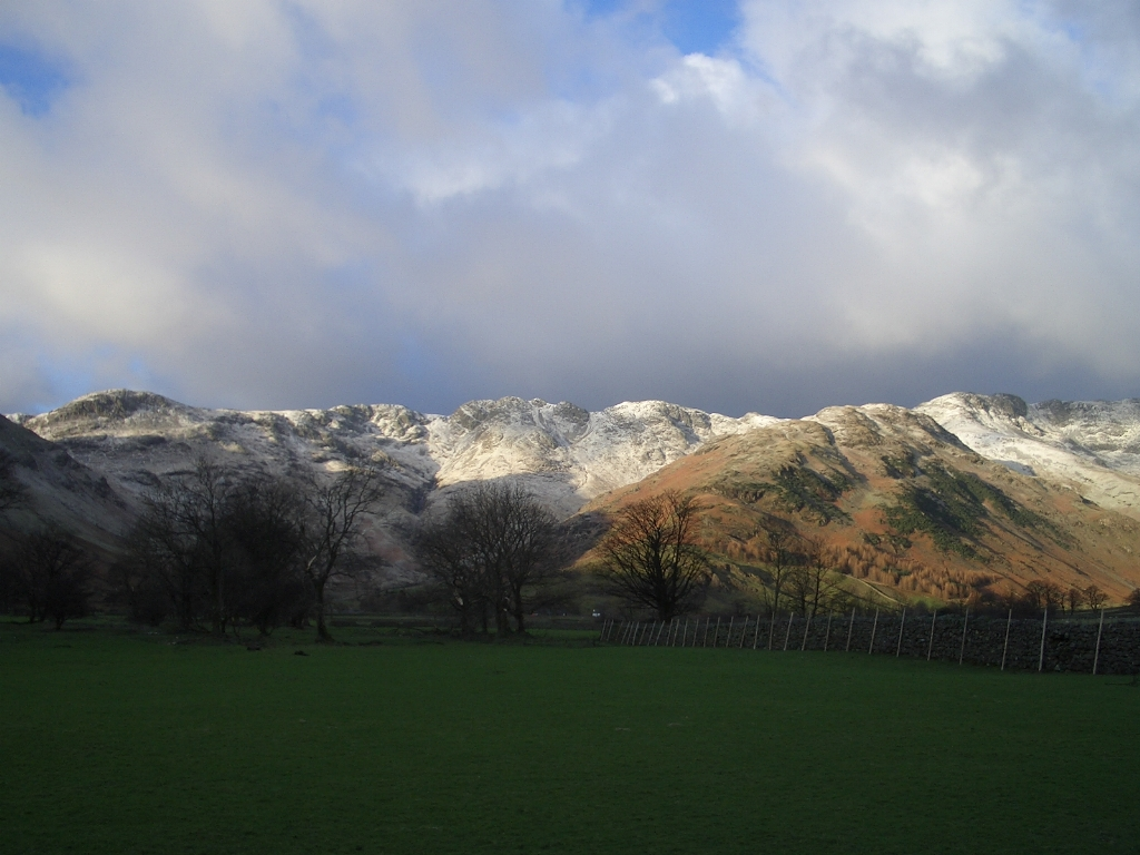 View From Great Langdale Campsite