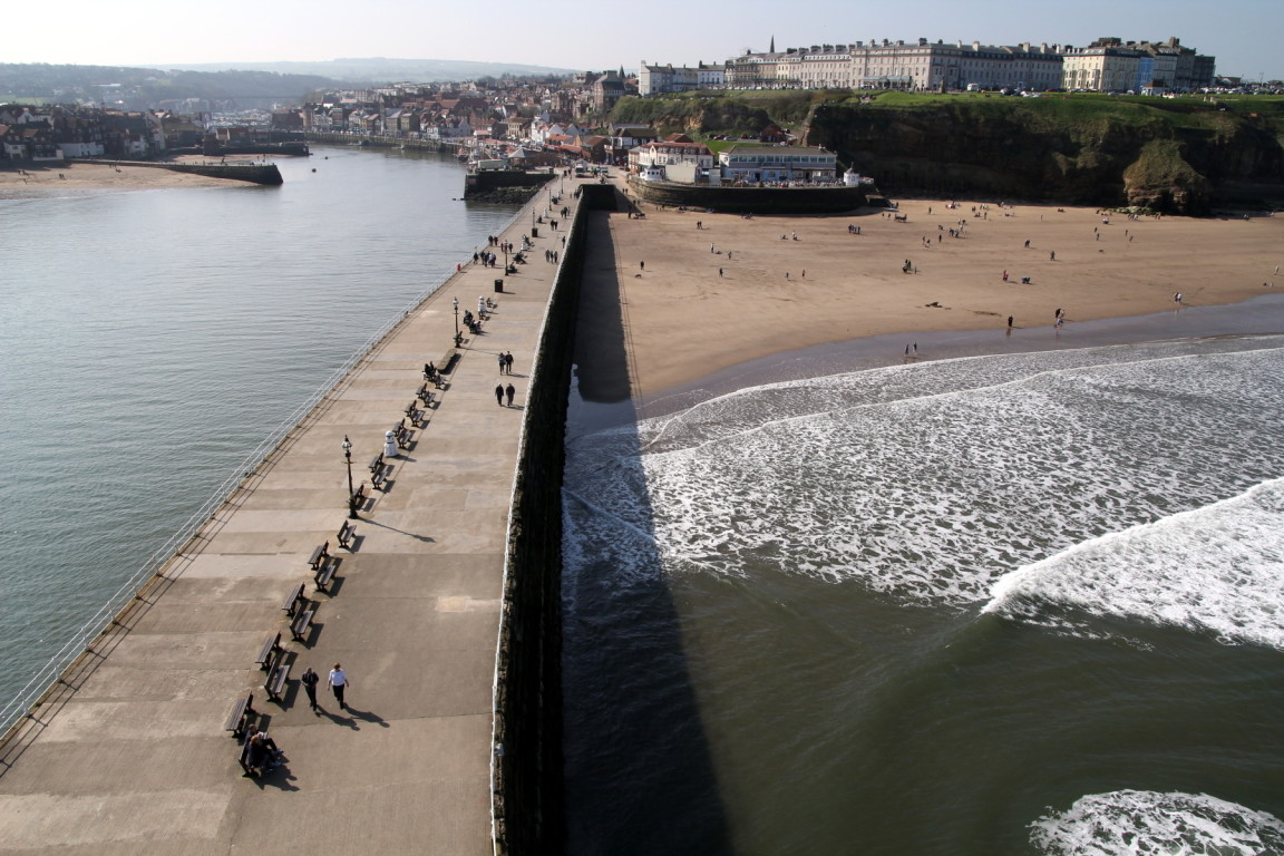 Pier from Lighthouse, Whitby