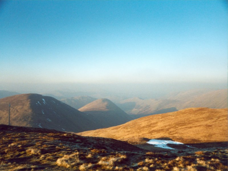 The Knott, looking north, towards Rest Dodd and The Nab