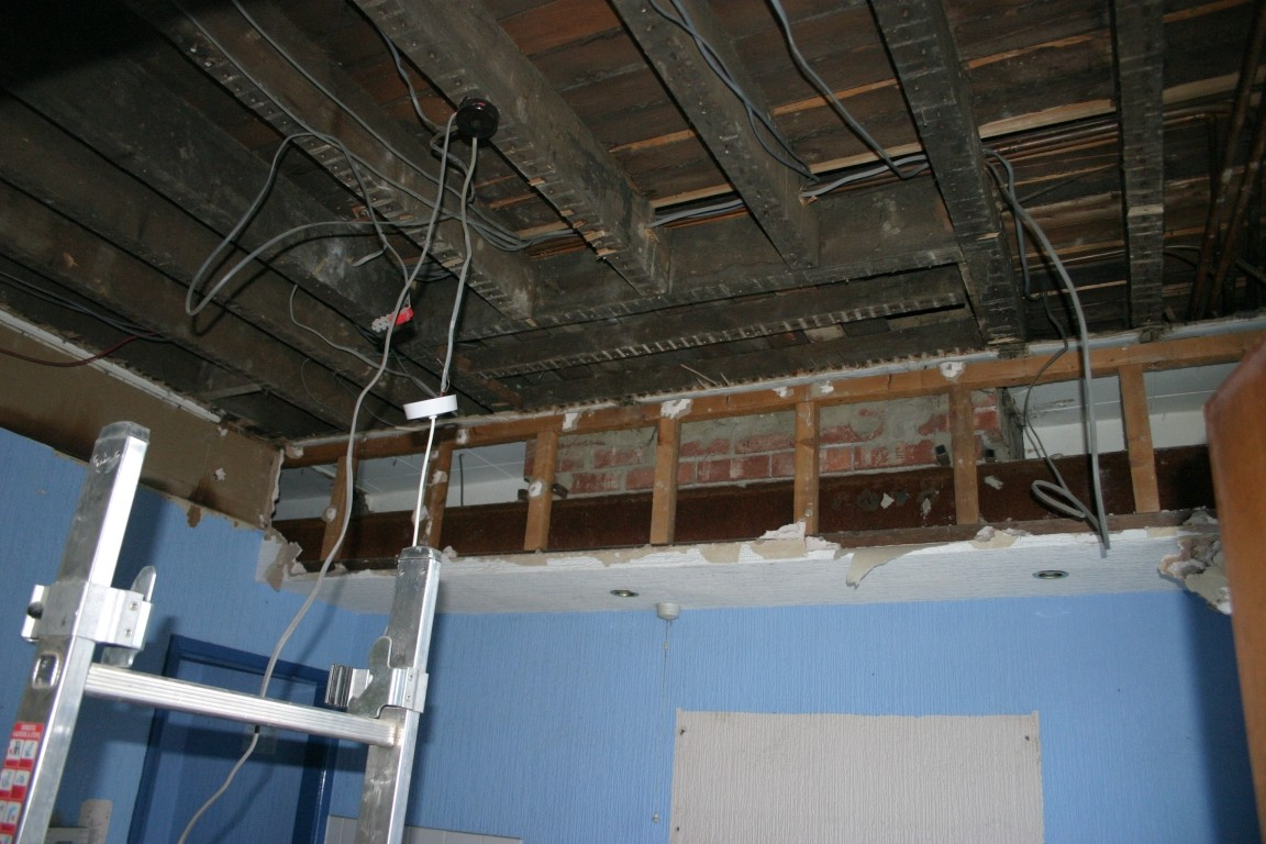 Most Of Ceiling Removed