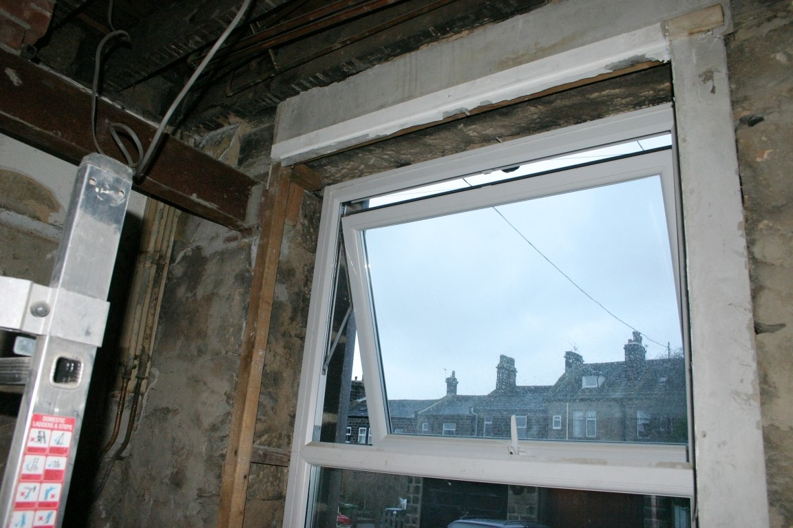 Bare Window After Removing Loose Surround