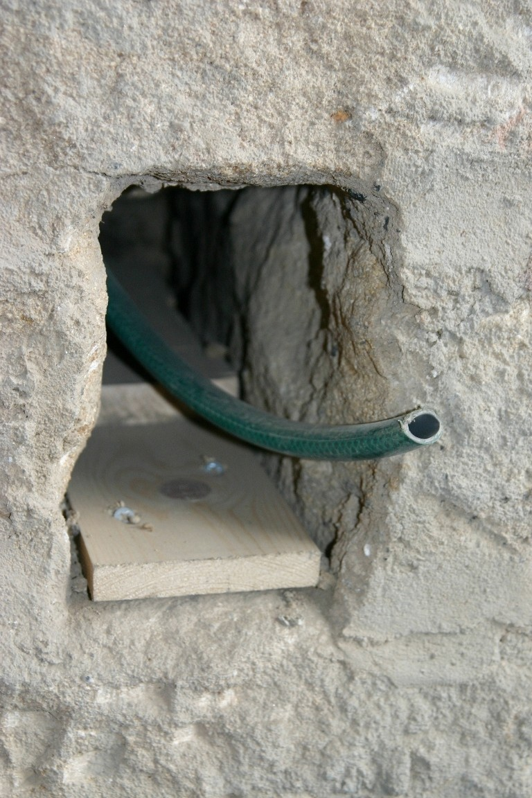 New Hole Created To Allow Chimney To Be Blocked Off Without Removing Kitchen