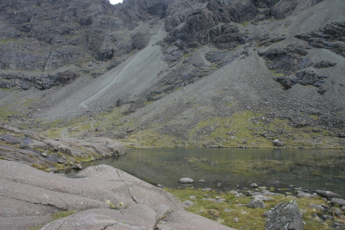 Loch Coire Lagan, Great Stone Shute In Background