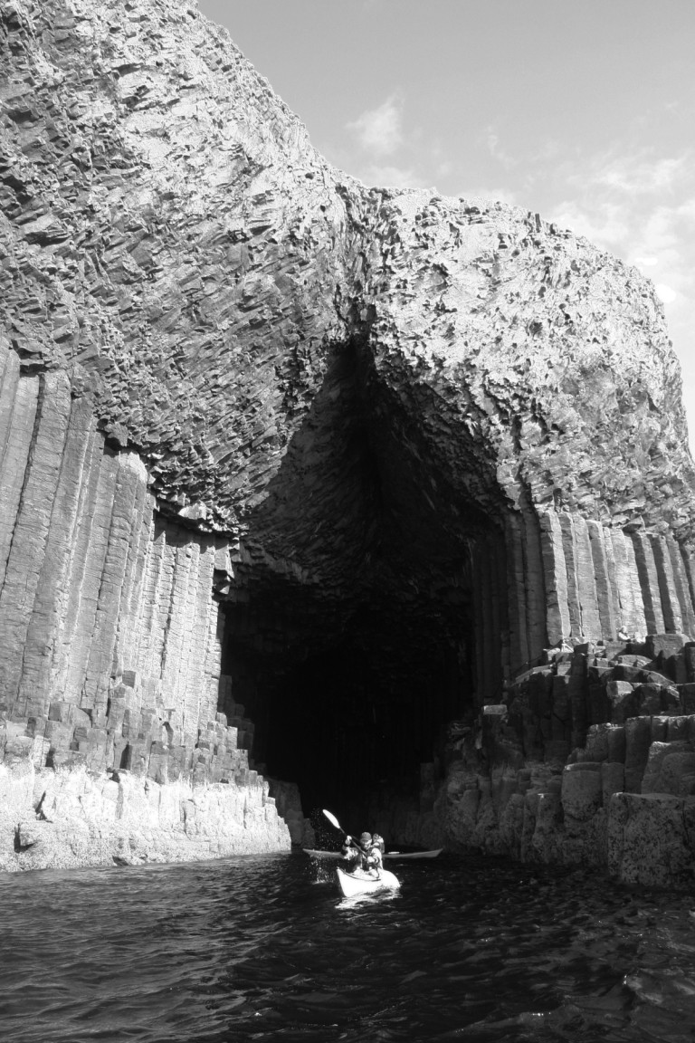 Tony And Bridgit Exiting Fingal's Cave, Staffa