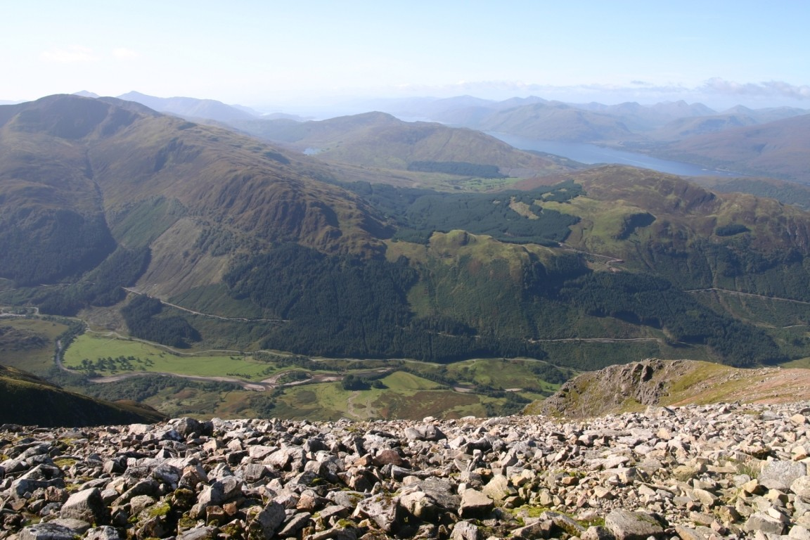 View Over Glen Nevis And Beyond From Ben Nevis