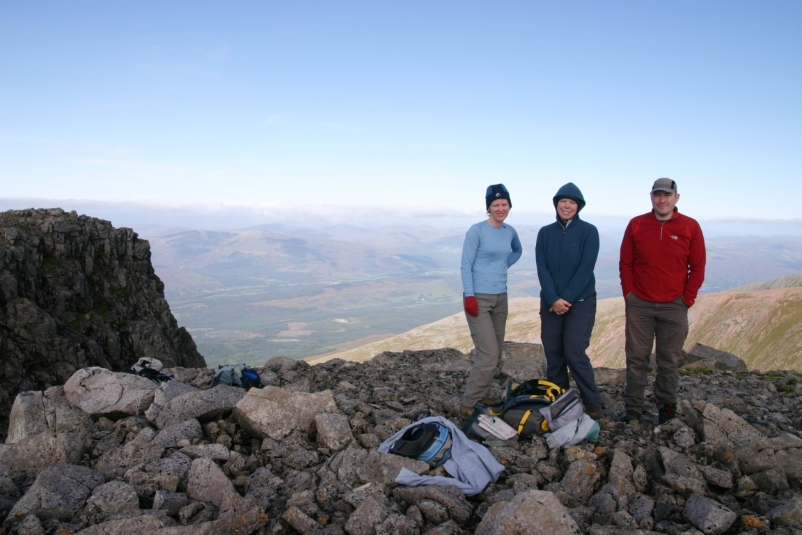 Debbie, Kate And Will On Ben Nevis