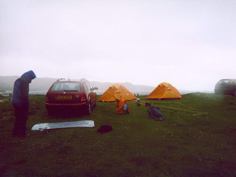 Campsite At Glenbrittle During The Better Weather