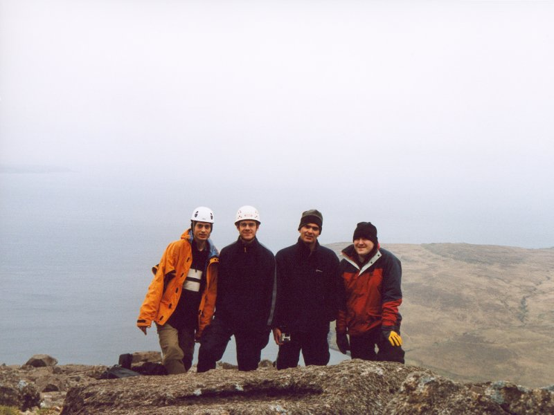 On Top Of Sron Dearg - Nick, Pete, Rich and Will