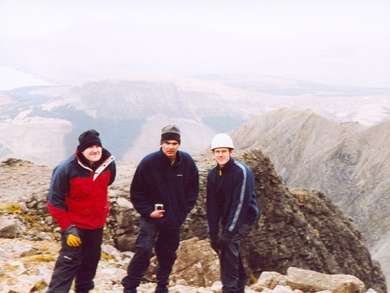 On Top Of Sron Dearg - Will, Rich and Pete