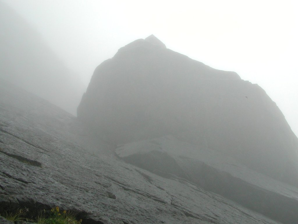 The Cioch, Looming Menacingly In The Mist