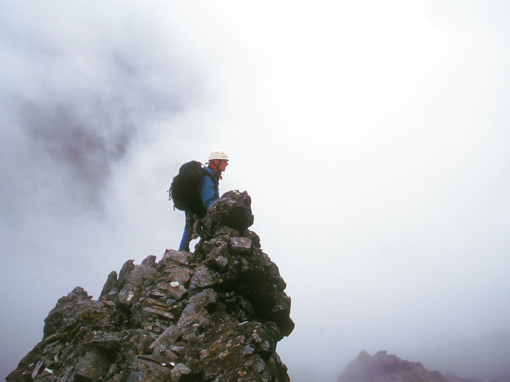 Harold Descending Near An Stac