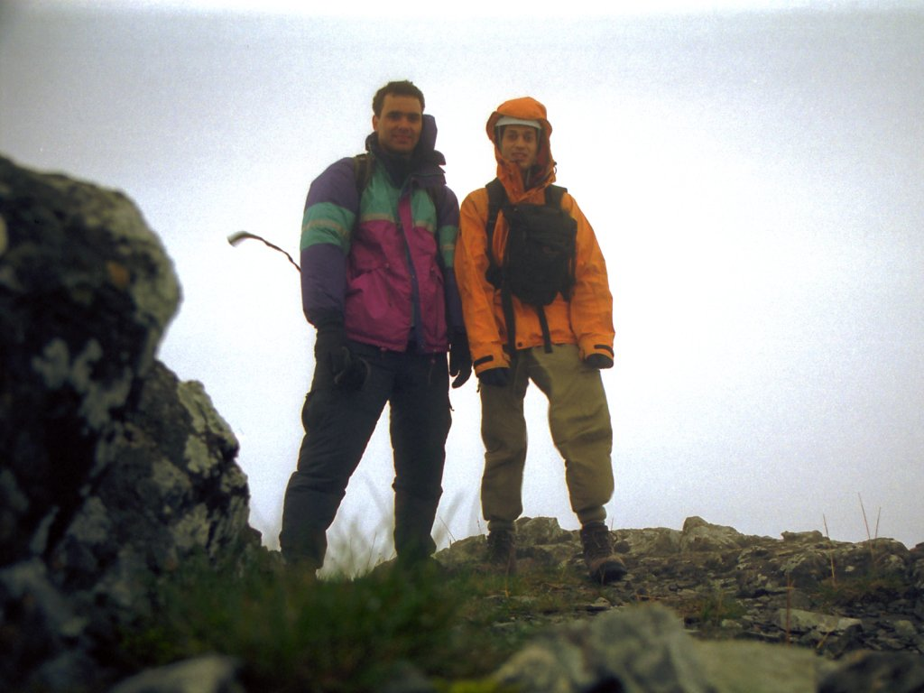 Rich and Nick Near Top Of Sgurr na Bhairnich