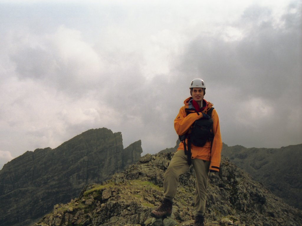 Nick On Sgurr a' Bhasteir, Bhasteir Tooth Behind
