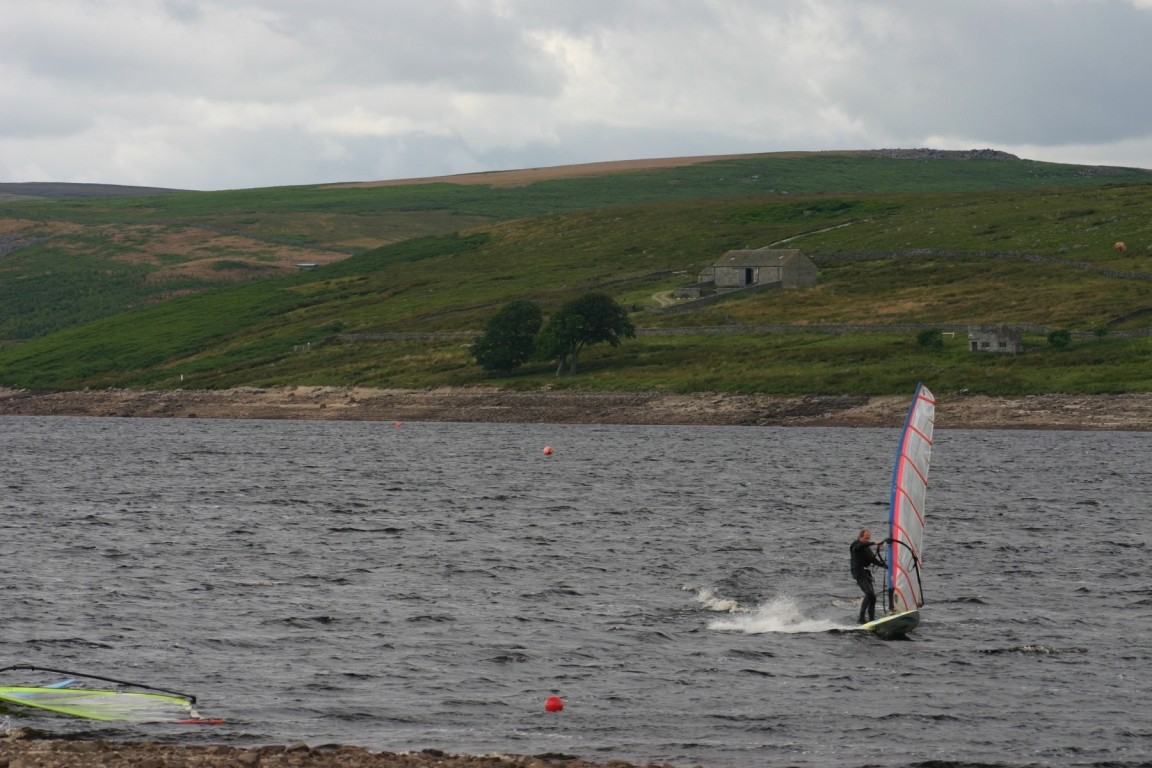 Windsurfer On Grimwith Reservoir