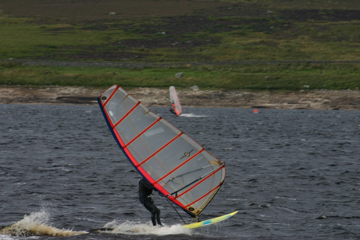 Windsurfers On Grimwith Reservoir