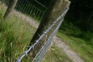 Barbed Wire Near Grimwith Reservoir